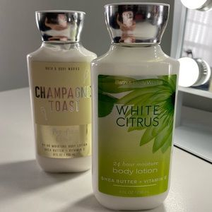 Bath & Body Works Champagne Toast & Citrus Lotions